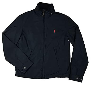 Polo Ralph Lauren Mens Perry Lined Winter Jacket (S, Navy Red Pony)