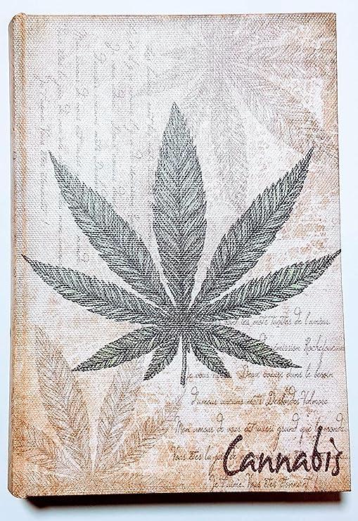 MI RINCON Caja de Madera en Forma de Libro Cannabis, 18X12X4 cm ...