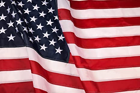 American Flag 4x6 ft : Longest Lasting US Flag Made from Nylon - Embroidered Stars - Sewn Stripes - UV Protection Perfect for Outdoors! USA Flag