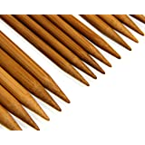 """Carbonized Patina 7"""" Double Point Bamboo Knitting Needles 14 Sizes (70 Pieces)"""