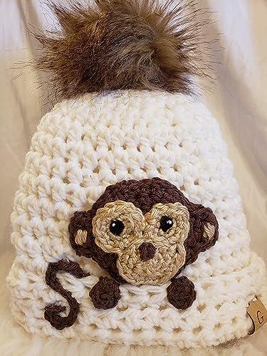Amazoncom Peek A Boo Monkey Hat Made By Gentree On Amazon Fits 4