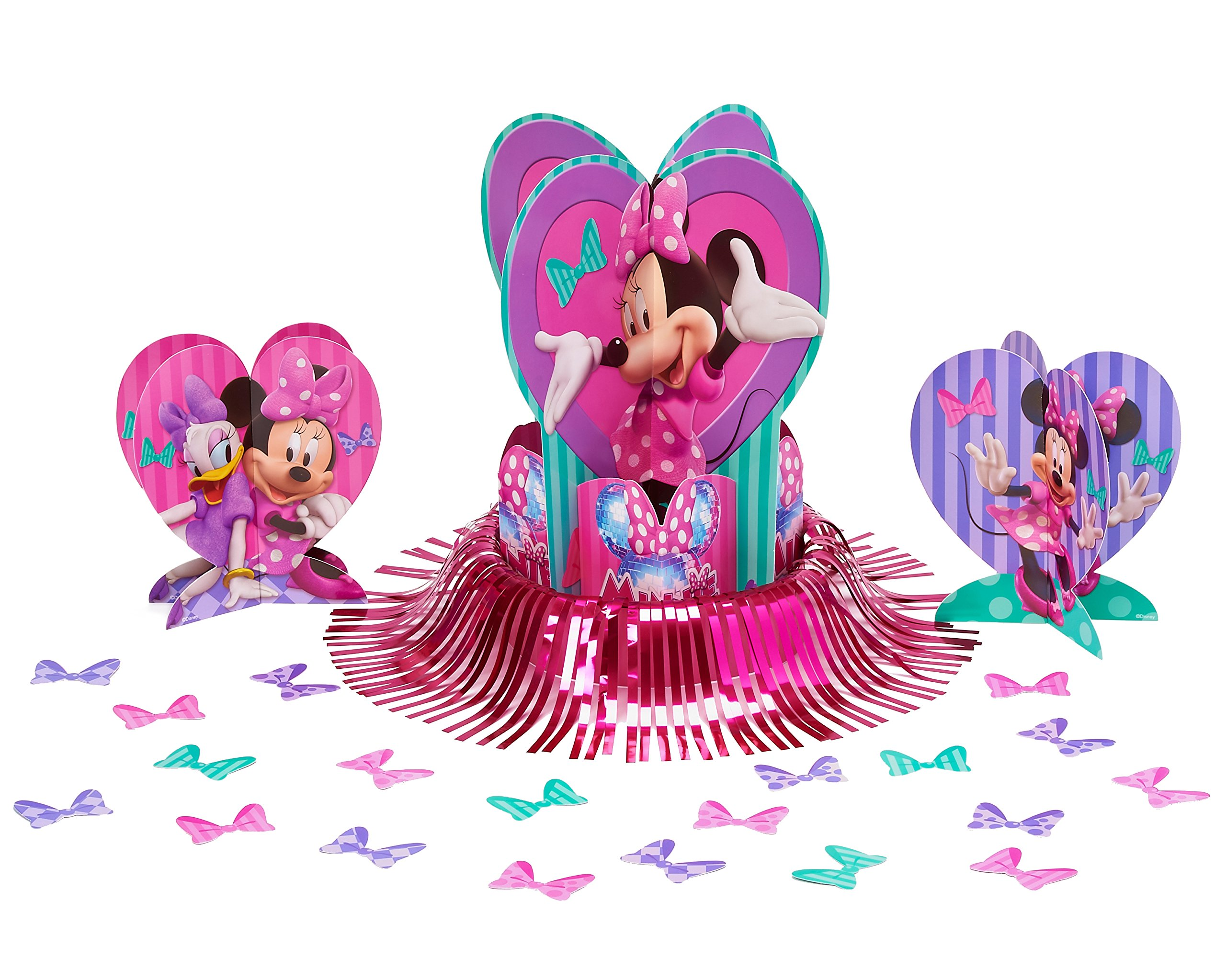 American Greetings Minnie Mouse Bowtique Table Decorations, Party Supplies