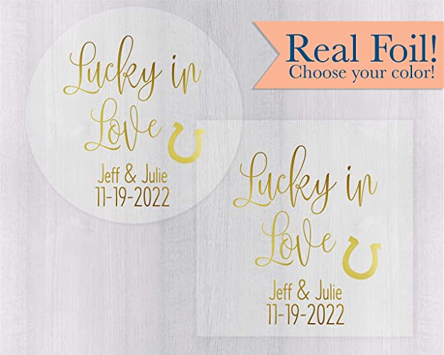 Amazon Lucky In Love Color Foiled Cleartransparent Wedding