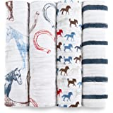 aden + anais swaddle 4 pack, wild horse