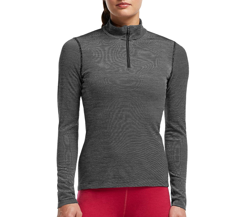 Icebreaker Damen Shirt Unterhemd Langarm Rollkragen Oasis Longsleeve Half Zip Stripe