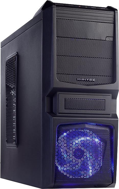 Hiditec XV20 - Caja de Ordenador (Full-Tower, PC, Metal, Fondo, ATX, Micro-ATX, 3 x 5.25, 1 x 3.5): Amazon.es: Informática