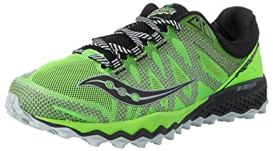 c2e0f1e0a7ae Saucony Men s Peregrine 7 Trail Running Shoes Green (Slime Black) 7 UK 41