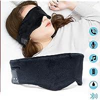 Sleep Headphones Eye Mask Perfect for Sleeping, Anti Snoring and The Best Headphones Sleep Design Ideas for Sports, Air Travel, Meditation and Relaxat (Black) Sleep Headphones Bluetooth