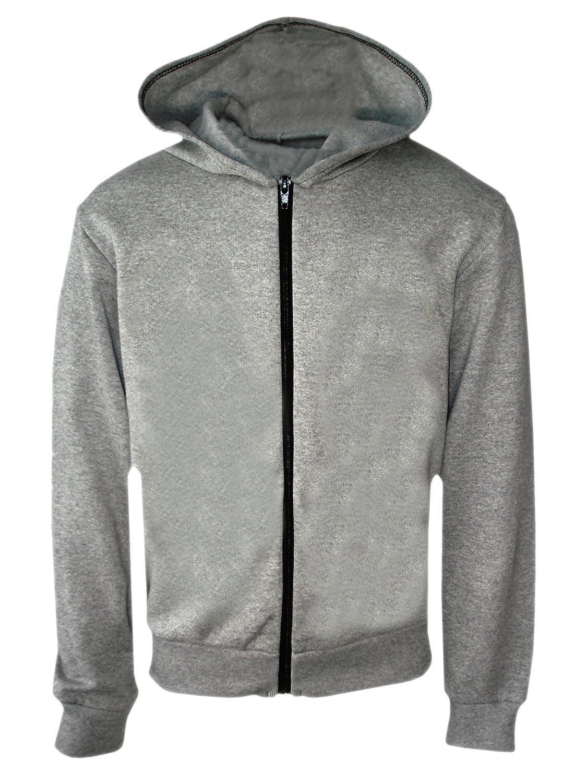 Kids Girls Boys Plain Coloured Zip Hoodie Hooded Sweatshirt Hoody Age 7-13 Year