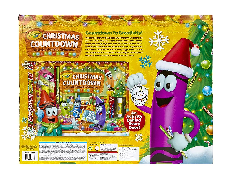 amazon com crayola christmas countdown activity advent calendar