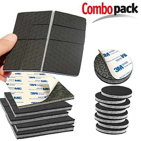 U0026quot;SlipToGripu0026quot; NON SLIP Furniture Pad Grippers With Adhesive Side    Combo Pack