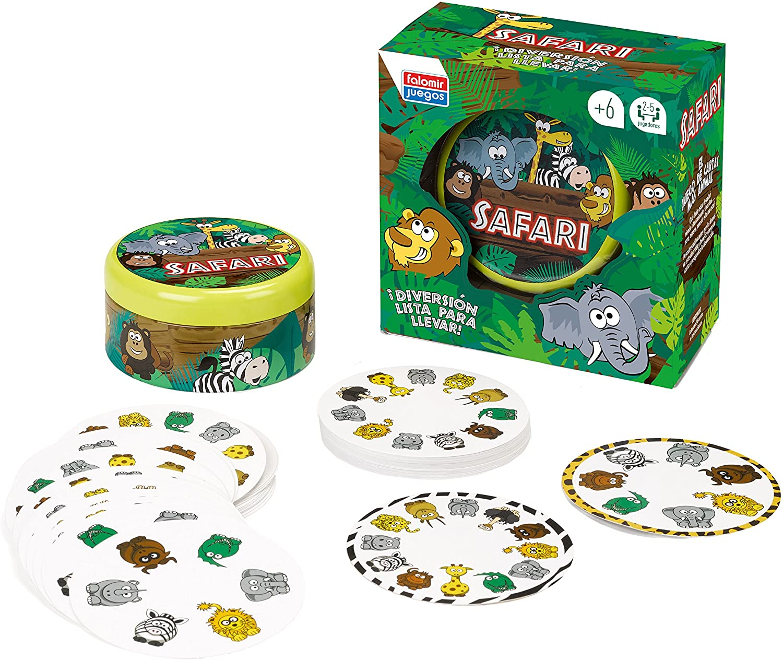 Falomir Safari, Juego de Mesa, Cartas (28412): Amazon.es: Juguetes ...