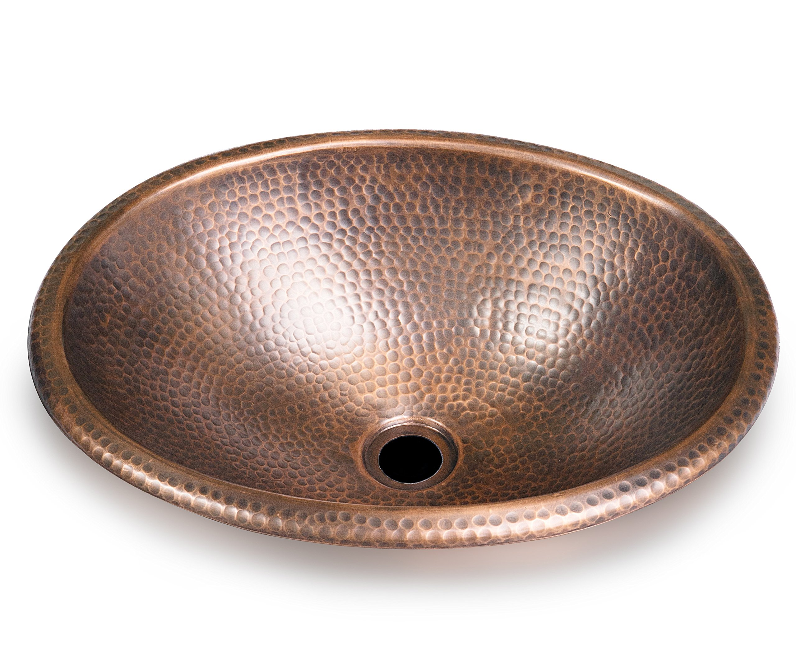 Monarch Abode Pure Copper Hand Hammered Sink, 17'' (Drop in Or Vessel) by Monarch Abode
