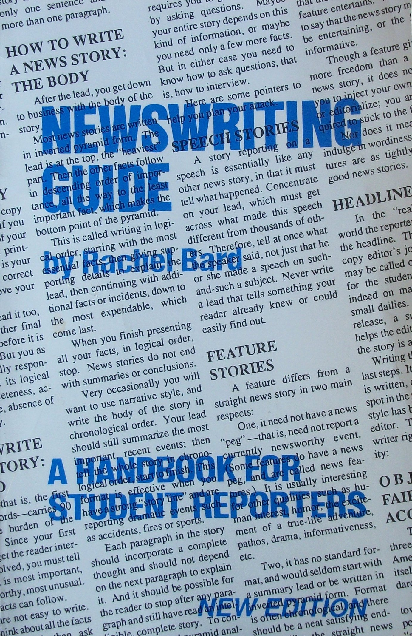 Newswriting guide: A handbook for student reporters: Rachel Bard:  9780960366606: Amazon.com: Books