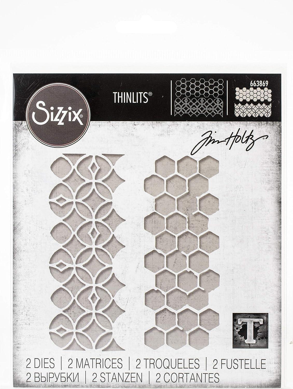 Sizzix Thinlits Die Set 2 Pack Pattern Repeat