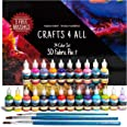 Crafts 4 All Fabric Paint Set - Pack of 24 Permanent, Assorted 3D Paints for Decorating Clothes, Shoes, Canvas, Wood and Pape