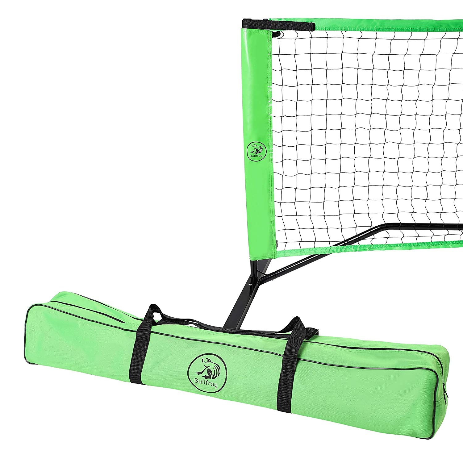 Bullfrog Pickleball Set – Portable Pickleball Net with Pickleball Bag and Assembly Instructions – Perfect for Indoor or Outdoor Pickle Ball