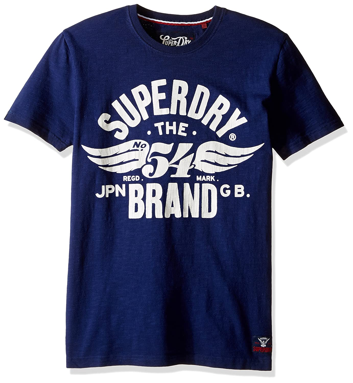 0812cea4d Amazon.com: Superdry Men's 54 Brand Graphic T-Shirt, Super Marine Navy  Slub, X-Large: Clothing