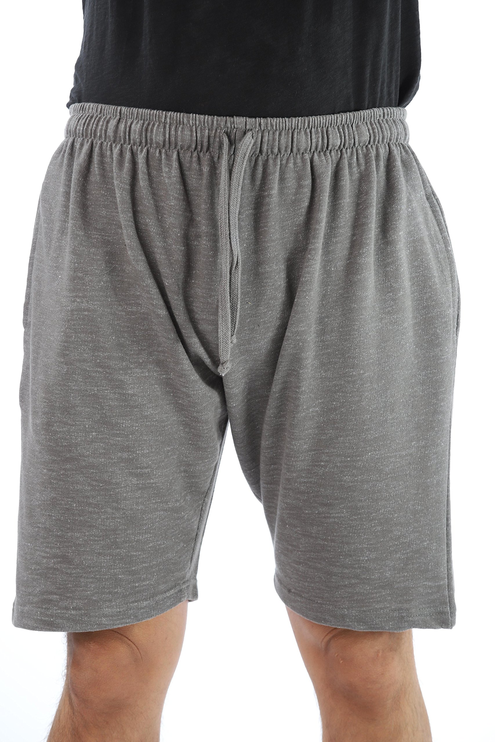 At The Buzzer Men's Sweat Shorts Sleepwear PJS 14502-GRY-XXXL