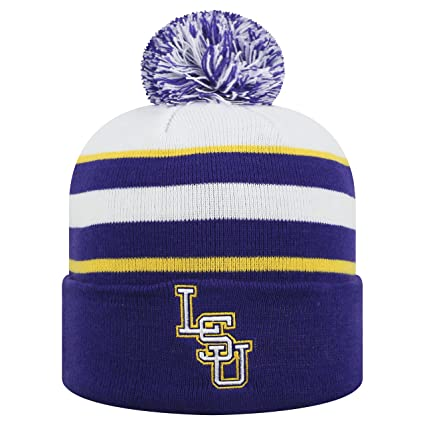 Amazon.com   Top of the World LSU Tigers Official NCAA Cuffed Knit ... d68d95c19e5
