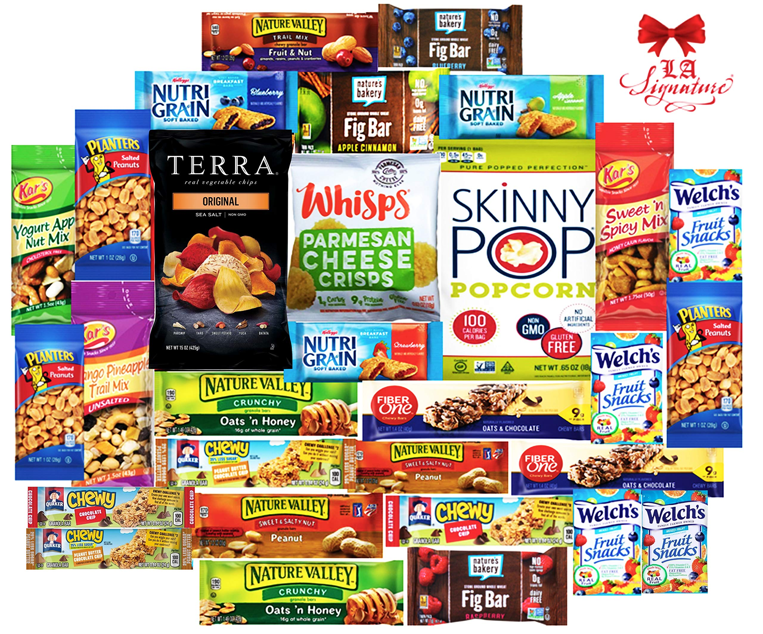 Ultimate Healthy Care Package (30 Count) - Assortments of Terra Chips, Whisps, Skinny Pop, Fig Bars, Great Easter Care Package for Family and Friends -Huevos de Pascua