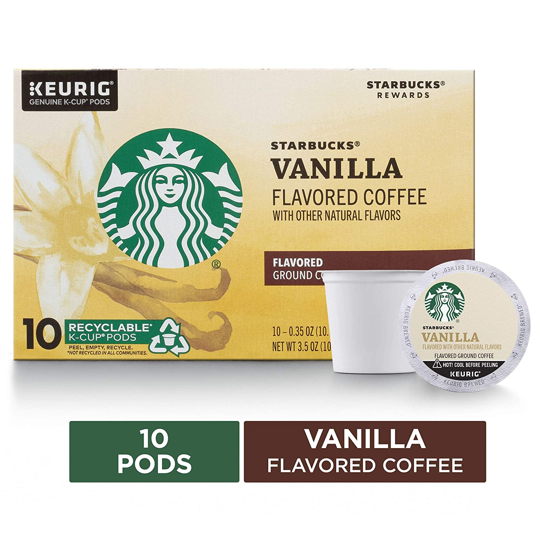 Starbucks Vanilla Flavored Blonde Roast Single Cup Coffee, 10 ct