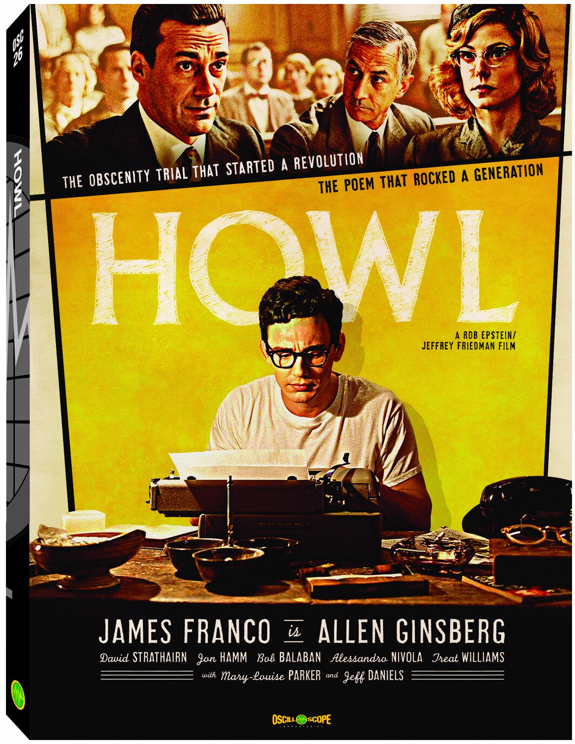 Amazoncom Howl James Franco Jon Hamm Mary-Louise Parker David  Strathairn Bob Balaban Alessandro Nivola Jeff Daniels Treat Williams  Rob Epstein Jeffrey Friedman Movies  TV