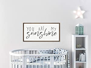 Cheyan You are My Sunshine Wall Art | Nursery Wall Decor | Sign for Above Crib | Wood Sign for Boys Room | Wood Sign for Girls Room | Baby Shower