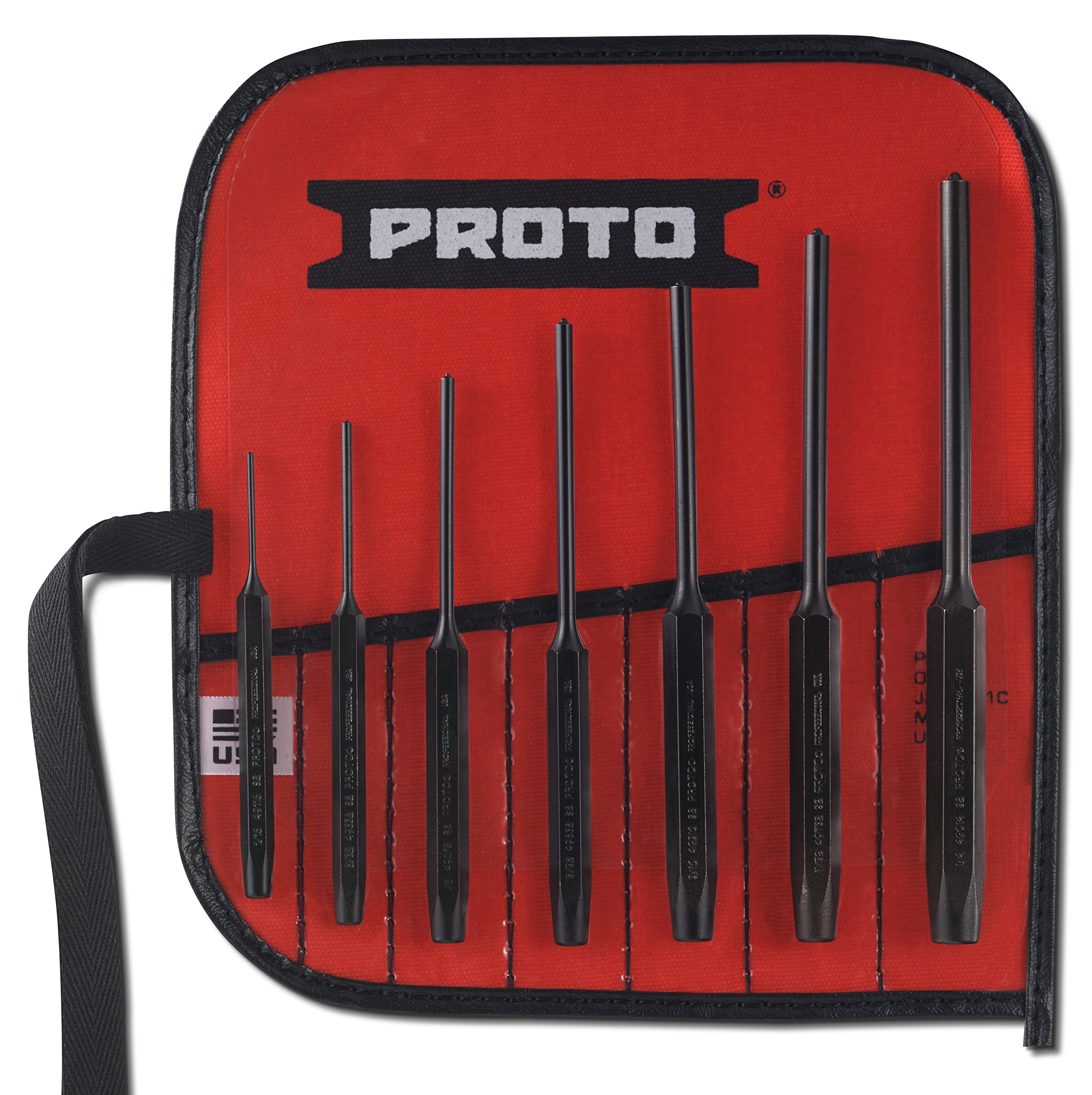 Stanley Proto J49007S2 Roll Pin Punch Set, 7PC by Proto