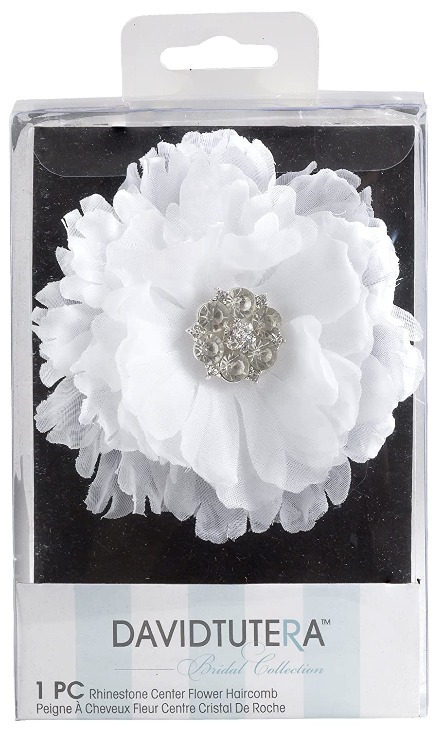 Amazon David Tutera Hair Comb Flower With Rhinestone Center
