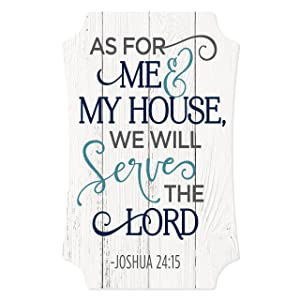 MRC Wood Products As for Me and My House We Will Serve The Lord Distressed Sign 12x8