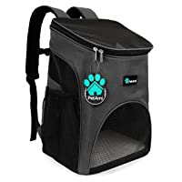 PetAmi Premium Pet Carrier Backpack for Small Cats and Dogs   Ventilated Design, Safety Strap, Buckle Support   Designed for Travel, Hiking & Outdoor Use