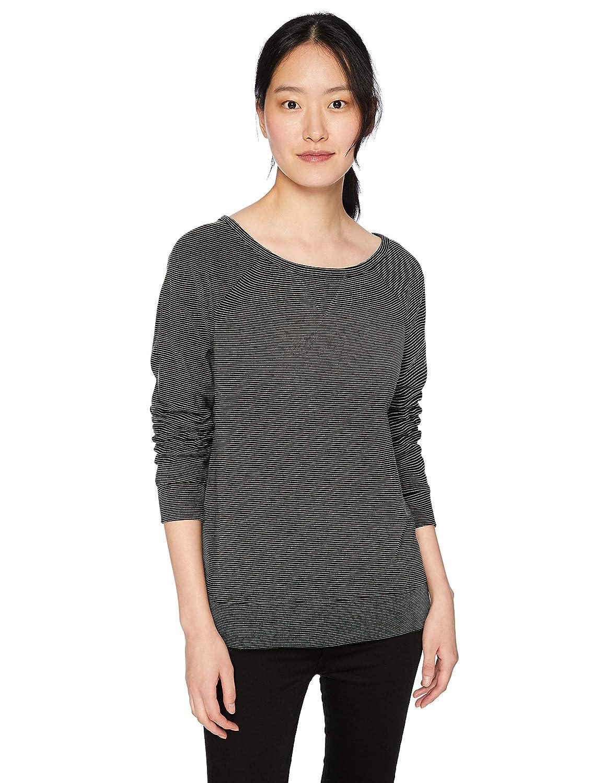 Daily Ritual Women's Terry Cotton and Modal Dorito High-Low Sweatshirt DR181388