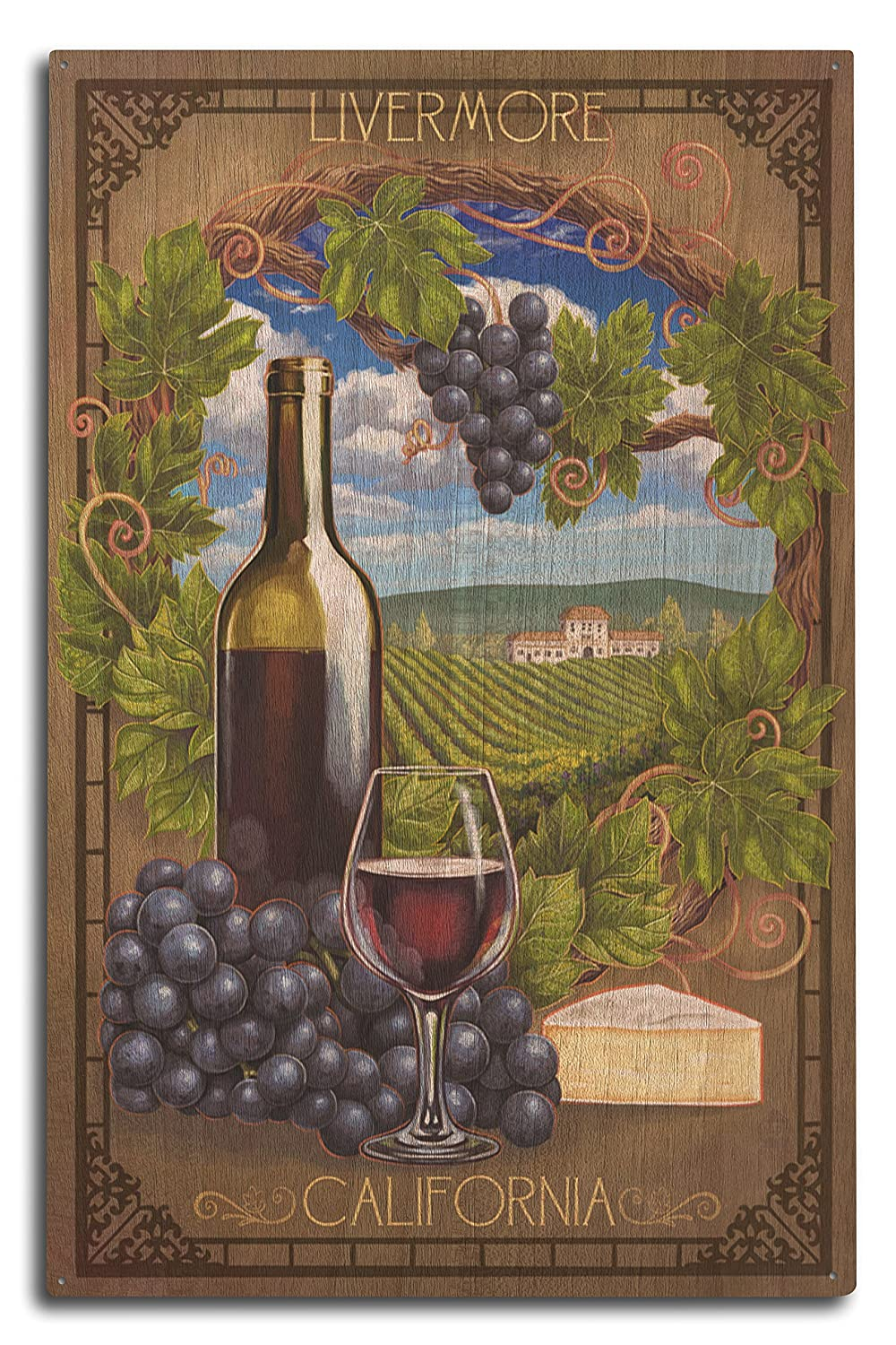Livermore、カリフォルニア – Pinot Noir 10 x 15 Wood Sign LANT-50612-10x15W 10 x 15 Wood Sign  B07366VSLH