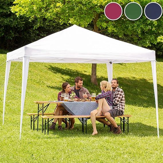TecTake Gazebo Plegable jardín Fiesta Tienda de campaña Carpa pabellón 3x3 m con Funda de Transporte (Rojo | No. 401622): Amazon.es: Jardín