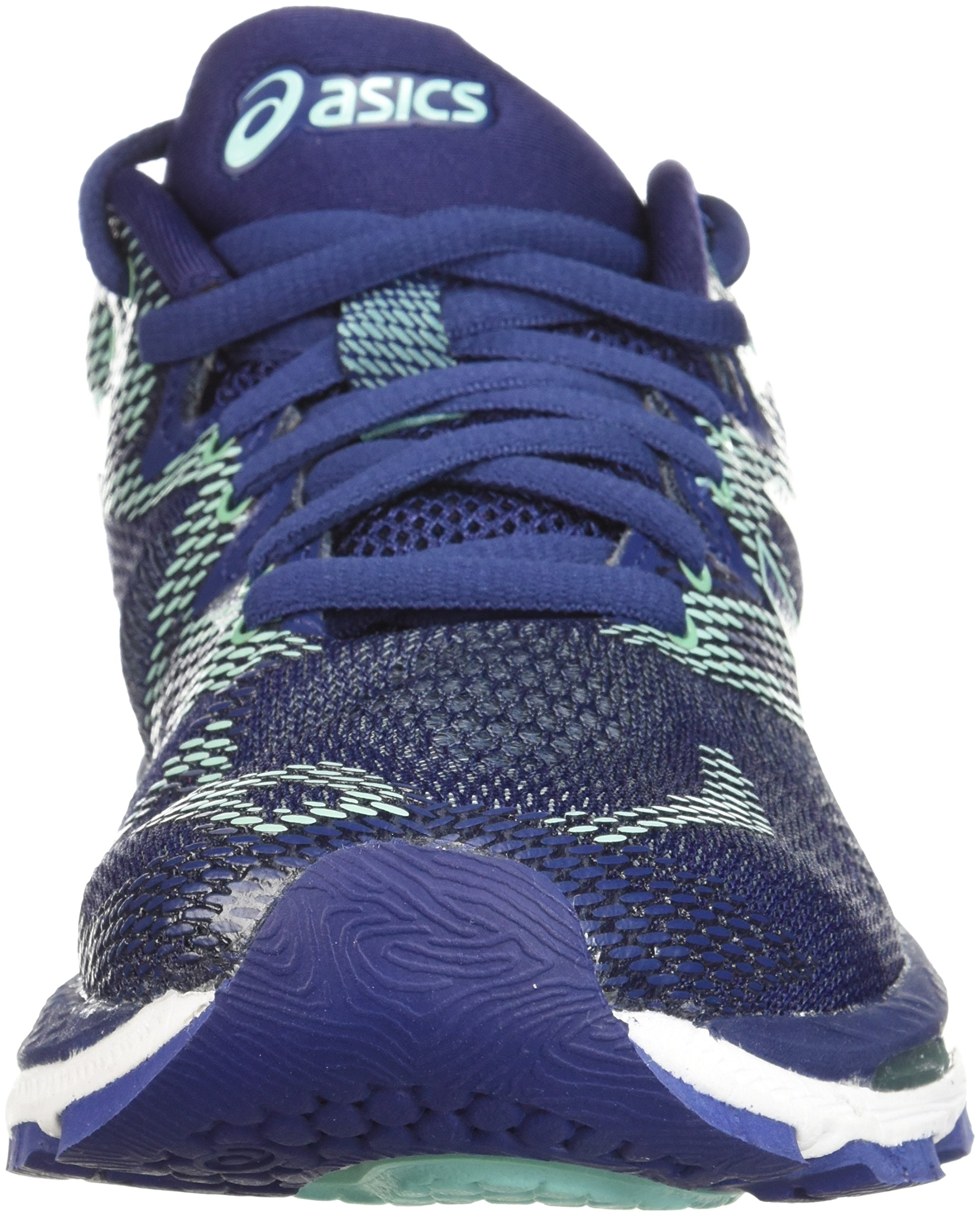 ASICS Women's Gel-Nimbus 20 Running Shoe, indigo blue/indigo blue/opal green, 12 D US by ASICS (Image #4)