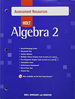 Amazon holt mcdougal algebra 2 common core curriculum holt algebra 2 assessment resources with answers fandeluxe Image collections