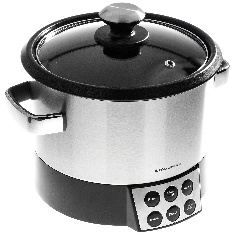 Ultratec 331400000158 Robot de cocina 6 en 1 con elemento para mezclar; para arroz, risotto, pasta, sofritos, cocción lenta y mantener caliente, 1000 ...