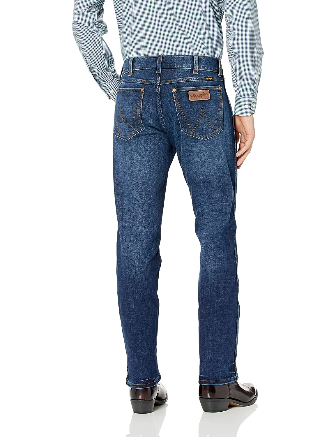 ea9b3087 Wrangler Men's Retro Premium Slim Fit Straight Leg Jean at Amazon Men's  Clothing store: