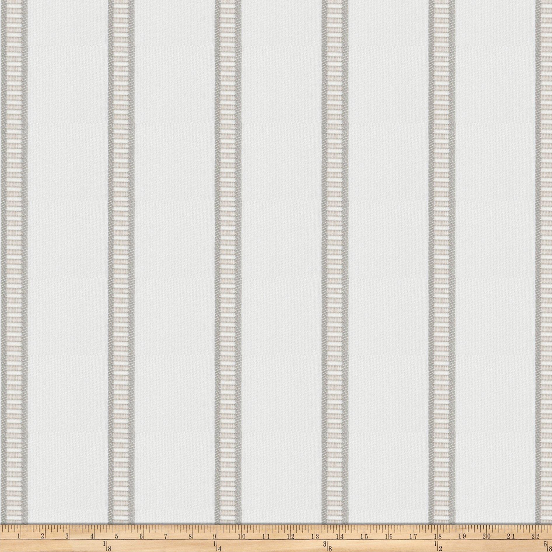 Fabricut Inc Kendall Wilkinson Sunbrella Indoor/Outdoor Pier Stripe Bleached Wood by Fabricut Inc
