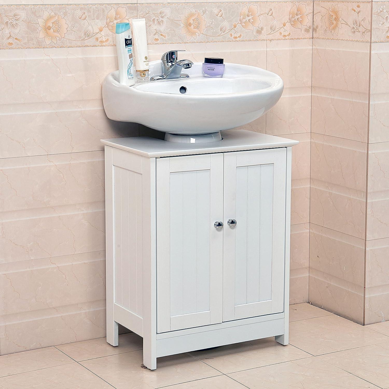 Swell Vivo C Undersink Bathroom Cabinet Cupboard Vanity Unit Under Sink Basin Storage Wood Home Interior And Landscaping Mentranervesignezvosmurscom