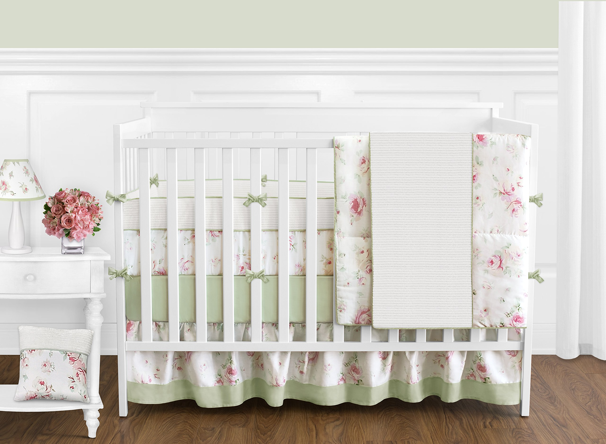 Sweet Jojo Designs Baby and Kids Clothes Laundry Hamper for for Riley's Roses Bedding