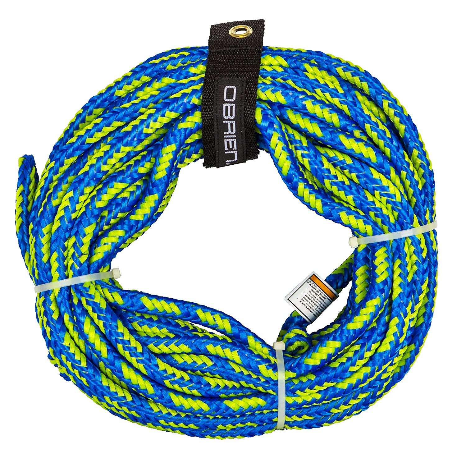 O'Brien 2 Person Floating Towable Tube Rope, Yellow Motion Water Sports Inc. 2174566
