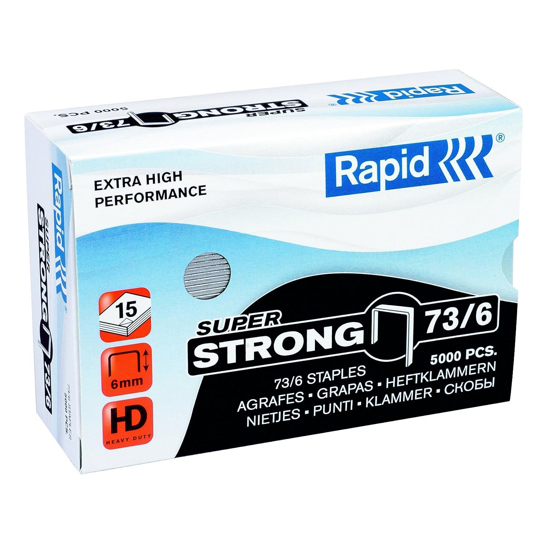 Rapid Agrafes SuperStrong 73/12, Longueur 12 mm, 5000 Agrafes, Agrafe jusqu'à 70 feuilles, Fil dur galvanisé, 24890800 Rapid Agrafage