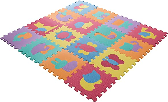 Hey! Play! Foam Floor Animal Puzzle Learning Mat Puzzle
