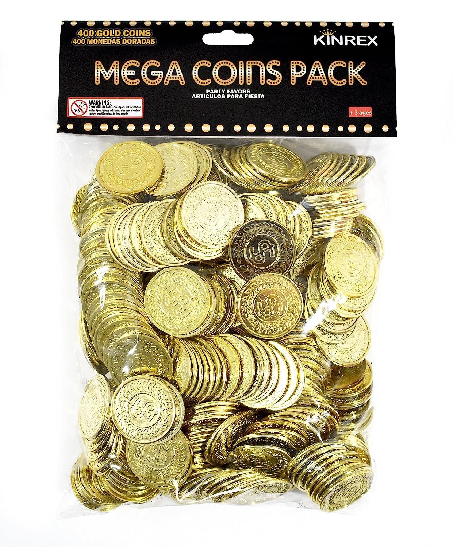 Amazon.com: KINREX - Monedas de plástico doradas – paquete ...