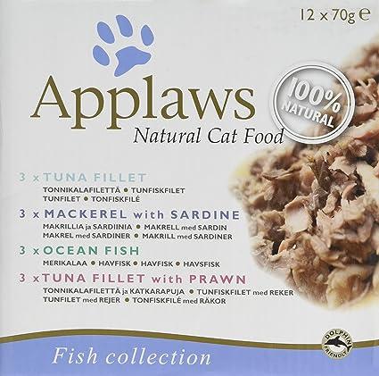 Applaws - Lata de Comida para Gatos (Pack de 4 sabores) 12 x 70