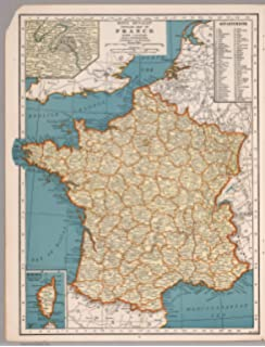 Amazon map poster partial view of bristol iron works owego map poster rand mcnally popular map of france 17 gumiabroncs Image collections