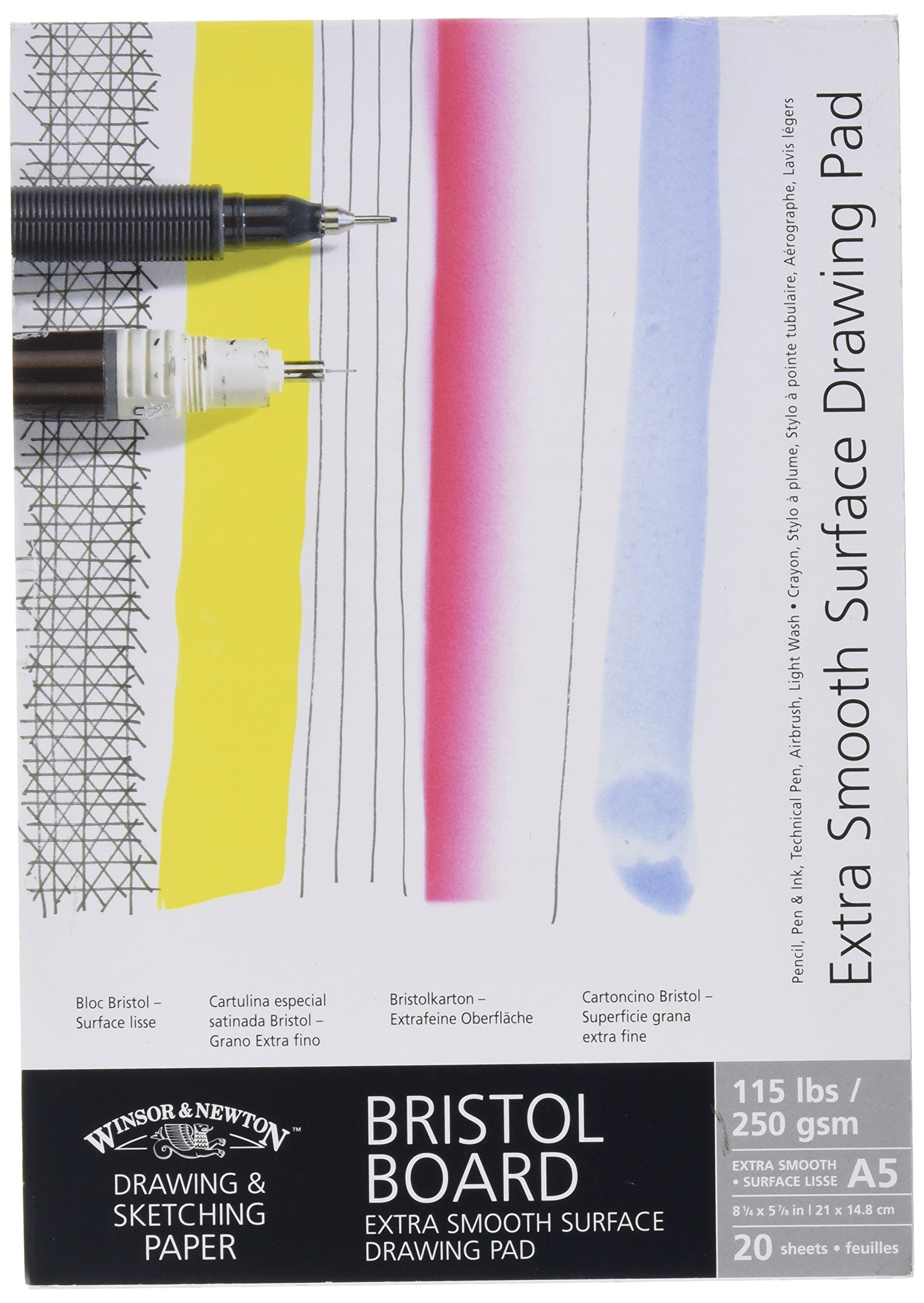 Winsor & Newton A5 Extra Smooth Bristol Board Gummed Pad by Winsor & Newton