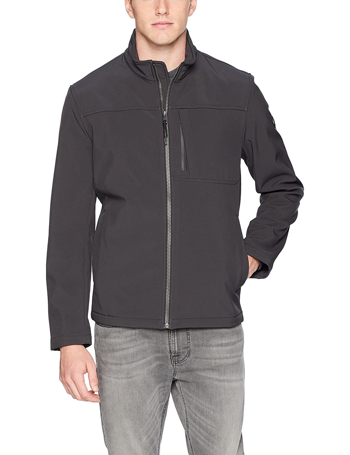 Calvin Klein Men's Angle Placket Soft Shell Jacket CM803184